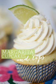 Margarita Cupcakes! They're delicious!!! I had to use an extra tbsp of lime juice and 4-5 tbsp of milk for the icing for consistency: Fun Recipes, Sweet, Food, Savory Recipes, Margaritas, Margarita Cupcakes, Lime, Dessert
