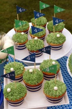 master's golf party ideas | Cool golf cupcakes - Masters party - use ... | Golf Cakes/Father's da ...: Cup Cakes, Golf Party, Birthday Cupcakes, Golf Cupcakes, Dads, Golf Birthday, Cupcakes Golf, Party Ideas