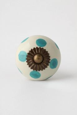 Polka dots in Robin's Egg Blue -- perfect for our color scheme!: Zinnia Knob, Zinnias, Hardware, Dresser, Dotted Zinnia, Anthropologie Com, Knobs