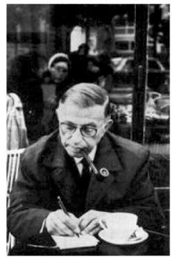 Sartre philosophizing over a cup of coffee: Jean Paul Sartre, Sartre Writing, Jeans, Literature, Sartre Xxe, Sartre Philosophizing, Genius Philosophy