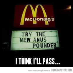 ➤ See the best Facebook fan page for Pinterest Humor! #funny https://www.facebook.com/pinteresthumor: Funny Stuff, Humor, Funnies, Mcdonalds, Anus Pounder