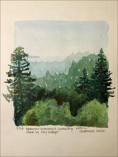 Stacy Egan - Workshop 3, Watercolor Sketching & Journaling