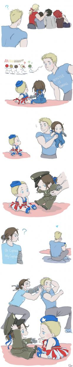 Steve and Bucky Babies: Ribbon 2 by SilasSamle on DeviantArt: Baby Steve And Bucky, Babies, Winter Soldier, Bucky Babies, Marvel Dc, Marvel Madness, Steve Bucky, Marvel Heroes