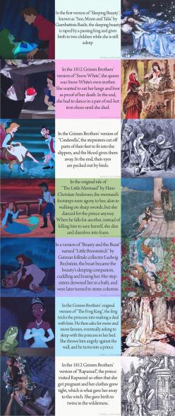 The real stories! Is it wrong to think that the last two could have happened and that they would have made for interesting movies.: True Endings, Disney Stuff, Disney Cartoon, Fairy Tales, Disney Princess, Childhood Ruined, Fairytales, Disney Version, The