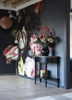 Trending: large wall art, wallpaper,  hand painted murals.  #Frenchbedroomcompany