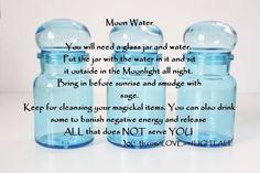 Use Full Moon Water to heal your mind, body soul. The energies of the Full Moon will is a gentle way to cleanse all of your crystals.: Moon Water, Crystals Stones Gems, Stones Crystals, Stones And Crystals, Crystals Gemstones, Crystals And Stones Magic