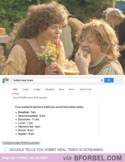 WAIT SERIOUSLY?!?!?!? IM CHECKING THIS OUT RIGHT NOW!! #LOTR: The Hobbit, Meal Times, Hobbit Meals, Hobbit Lotr, Fandom, Lotr Food, Hobbit Mealtimes