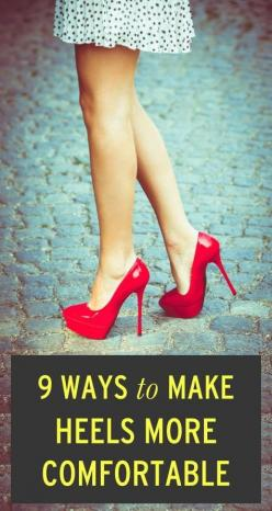 We'll take all of the ways! How do you make heels more comfortable (other than not wearing them..) ;): Wear Heels, Comfortable High Heel, Idea, Prom Heel, Womans Heel, How To Make Heels Comfortable, High Heels, How To Wear Heel, Shoes Shoes