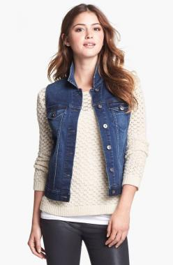 With a popped collar and thick sweater underneath for winter....like: Vince Camuto, Camuto Vintage, Denim Vests, Vintage Wash, Jean Vest, Outfits With Denim Vest, Wash Denim, Denim Vest Outfit