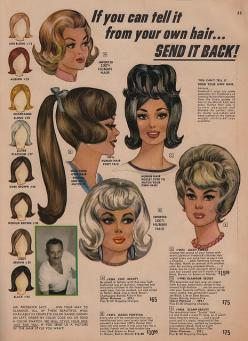 1964 Frederick's of Hollywood catalog: Frederick'S Of Hollywood, Vintage Hairstyles, 1960S Fashion, Hollywood Wigs, Retro Hairstyles, Vintage Ads, Photo, Vintage Retro Fredericks Wigs