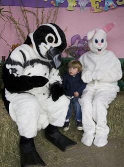25 Incredibly Awkward Easter Photos hey kid wanna buy some drugs the bunny won't care he's to stoned: Scary Easter, Bunny Photos, Easter Bunnies, Penguins, Weird, Easter Bunny, Creepy Easter, Bunny Pictures