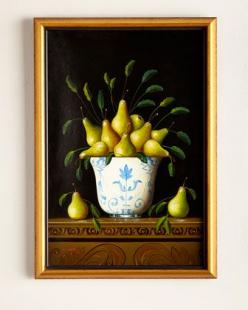 """""""Pears"""" Painting by John-Richard Collection at Horchow.: John Richard Collection, Multi Colors, Colorful Wall Art, Framed Wall Art, Collection Pears, Pears Painting, Pear Painting, Paintings, Art Deco"""
