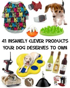 41 Insanely Clever Products Your Dog Deserves To Own. Most of these things are so dumb and yet I want to buy almost everything haha.: Doggie, Animals Pets, Dogs Pets, Dog Things Pet Products, Clever Products, Pets Dogs Products, Dog Deserves