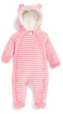 adorable pink striped hooded bunting http://rstyle.me/n/t2emhr9te: Babygirl Ideas, Baby 3, Hooded Bunting, Baby Clothes, Pink, Baby Kidsclothes