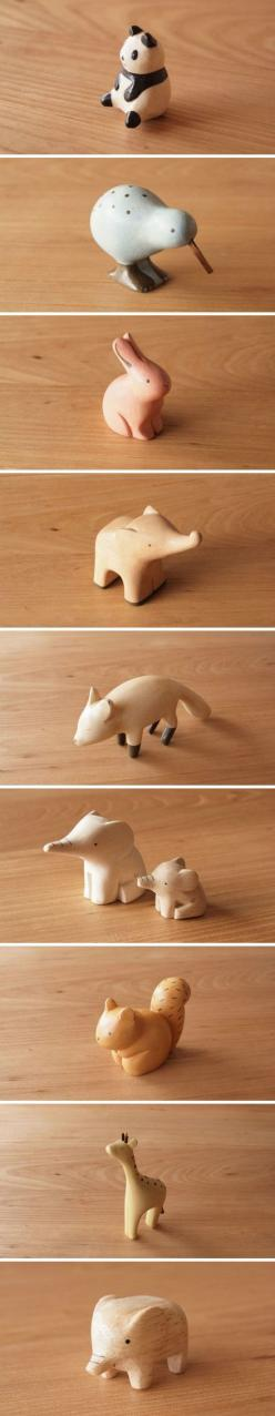 Ahh we're getting some very adorable wooden animal charms like this in the shop very soon!: Animal Charms, Wooden Animal, Carving Wood Toys, Whittling Idea, Wooden Toys, Kids Toys