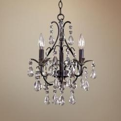 Castlewood Walnut Silver Finish 3-Light Mini Chandelier: Castlewood Walnut, Dining Room, Finish 3 Light, Mini Chandelier, Chandeliers, Walnut Silver, Silver Finish, Light Fixture
