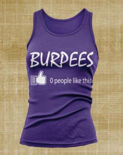 Crossfit Apparel - Burpees Thumbs Up Like Women's Tank Top (White Print) Crossfit, Muscle Up, Clean, Jerk, Snatch on Etsy, $14.99: Tank Tops, Fitness, Crossfit, White Prints, 14 99, Tanks
