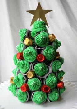 Cupcake Christmas Tree!!: Holiday, Idea, Food, Cupcake Christmas, Christmas Tree Cupcake, Christmas Trees, Christmas Cupcakes