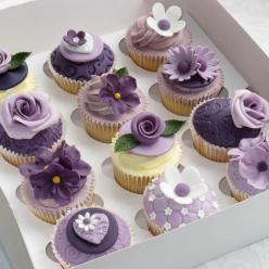 cupcake: Purple Cupcakes, Cup Cakes, Ideas, Creative Cake, Sweet, Food, Wedding, Dessert, Purple Flower
