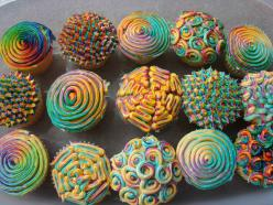 cupcakes!: Ideas, Sweet, Color, Food, Psychedelic Cupcakes, Cup Cake, Yummy, Rainbow Cupcakes, Dessert