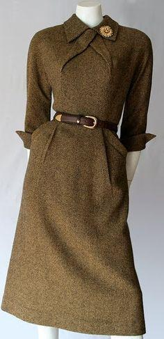 Dress, Pat Hartley, 1950's.  Very sharp
