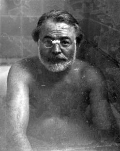 Ernest Hemingway in a bathtub, date unknown @Kacie Jenkins Jenkins Jenkins Barton: Books, Face, Ernest Hemingway, Bathtub, Writers, 1950, Portraits, People, Photo