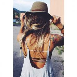 Flowy dress & strappy bandeau [: Backless Shirt, Fashion, Style, Open Back Shirt, Open Backs, Free Spirit Tattoo, Hair
