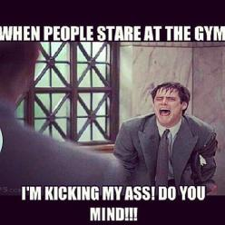 hahaha all the time...its like they have never seen a girl life before  Check out my Jiu Jitsu, Boxing and MMA articles, workouts and more on http://thefightmechanic.com: People Stare, Fitness, Gymhumor, Gym Humor, Funny, Funnies, Health, Gym Memes