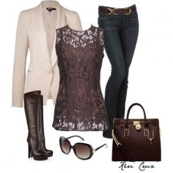 i love this shirt and the belt on those jeans. dont care for the rest of the outfit though.: Casual Friday, Lace Tops, Dressy Outfit, Cute Outfits, Fall Outfits, Date Nights, Lace Outfit