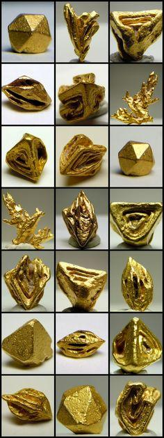 I think the beauty of gold speaks for itself. I wish there were a lot more of it on Earth. --Pia (Natural crystal forms of Gold): Hearty Place, Gemstone, Mineral, Natural Crystals, Rock, Crystal Forms, Natural Form, Crystallized Gold