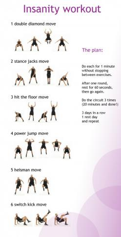 insanity workout made simple...have to try this after Baby Kabrin comes in April! Looks like a great way to get in shape for summer, post-baby!: Minute Insanity, Insanity Moves, Work Outs, Workout Insanityworkout, Exercise, Insanityworkout Fitness, Fitnes