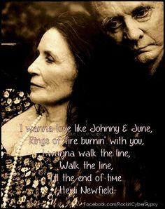 Johnny Cash and June Carter...beautiful!