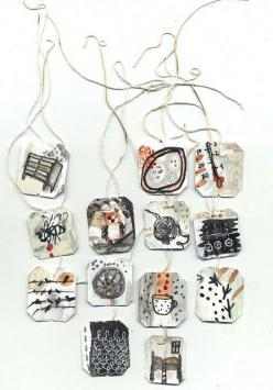 more altered tea tags |- Ines Seidel: Art Tea, Ines Seidel, Altered Teabags, Photo, Books And Tea Art