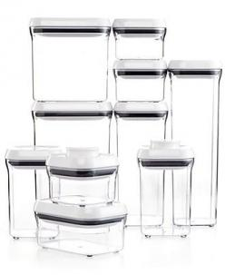 OXO 10-Piece Pop Container Set - Kitchen Gadgets - Kitchen - Macy's...cheaper at Sam's: Organization, Grips 10 Piece, Storage Containers, Oxo 10 Piece, Kitchen, Products, 10 Piece Pop