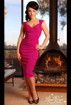 pink.: Girl Clothing, Wiggle Dress, Fashion, Style, Dresses, Pinup Girl, Pinup Couture, Pin Up