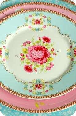pretty aqua and pink china (Pip Studio again, I believe. I'm Pinning too much Pip, better to just buy the company):