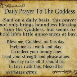 reminds me of the children's prayer: now i lay me down to rest/safely in my goddess nest/bless all i love, and bless me, too/dearest goddess i love you: Goddesses, Daily Prayer, Wicca, Book, Pagan, Forest