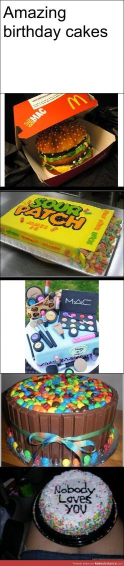 Scrolling down I'm thinking wow great cakes. Awesome. Love it. Got to the bottom and actually lol'd.: Kit Kat Cakes, Patch Kids, Food, Amazing Cakes, Amazing Birthday, Awesome Cakes, Mac Cake, Birthday Cakes, Big Mac