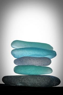 Sea glass washed up on Largo Bay, create the beautiful aqua pebbles that inspired the rich blue-green tone of David Mach RA's 'Largo Bay'. http://www.colourandpaint.com/brand/royal-academy/collections/david-mach-ra.html: Beachglass, Sea Shells