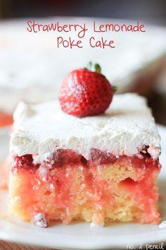 Strawberry Lemonade Poke Cake