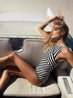 Swimwear: Bathing Suits, Fashion, One Piece Swimsuits, Summer Style, Black White, Bikini
