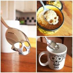 This is freaking cool!! SPOON OF DEATH! It's about 13$: Gift, Stuff, Spoons, Kitchen, Things, Sugar Skulls