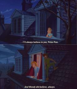 This picture shows how Wendy always believed in Peter, and it showed how she still aged like a normal person but you can see he is still a young boy.: Disney Peter Pans, Peterpan 3, Peter O'Toole, I M, Disny Peterpan, I Ll