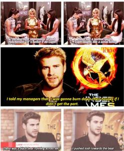 Well then: Dark Liam, Serial Killer, Liam Laughs, Liam Hemsworth, Hungergames, The Hunger Game, Hunger Games Cast, Jennifer Lawrence