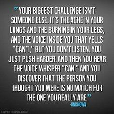 Your biggest challenge fitness workout exercise workout motivation exercise motivation  fitness quotes workout quote workout quotes exercise quotes health
