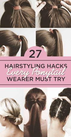 27 Hairstyling Hacks Every Ponytail Wearer Must Try. Get the Serena Van Der Woodsen ponytail you've always dreamt of.: Ponytail Wearer, Hair Hack, 27 Hairstyling, Hair Style, Tips And Tricks, Work Hairstyle, Perfect Ponytail