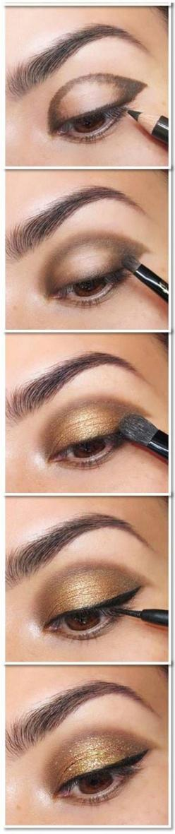 13 Of The Best Eyeshadow Tutorials For Brown Eyes | How To Do The Best Smokey Eye Step By Step Tutorial By Makeup Tutorials http://makeuptutorials.com/13-best-eyeshadow-tutorials-brown-eyes/: Eye Makeup For Brown Eye, Eye Shadow For Brown Eye, Makeup Brow