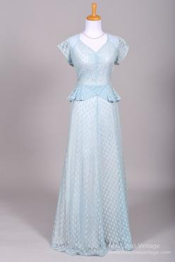 1940 Blue Lace Vintage Wedding Gown from Mill Crest Vintage: 1940 S, Lace Vintage, Vintage Weddings, Wedding Dresses, Vintage Wedding Gowns, Blue Lace, Vintage Lace Weddings
