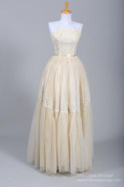 1950's Emma Domb Halter Vintage Wedding Gown : Mill Crest Vintage: Wedding Dressses, Vintage Weddings, 1950S, Vintage Dresses, Vintage Wedding Gowns, Vintage Wedding Dresses, Domb Vintage, 1950 Emma, 1950 S