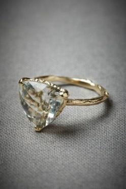 """45 engagement rings that don't suck""   Most of these are from etsy. Love supporting small business owners.: Wedding Ring, Trillion Cut, Style, Stone, Accessories, Engagement Rings"